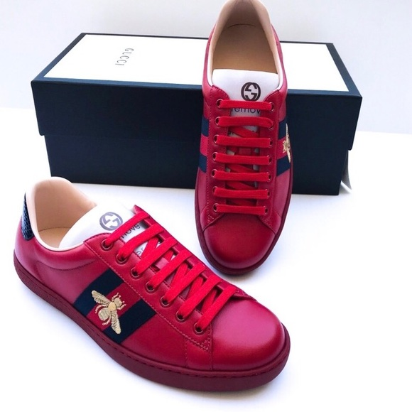 a3a19620867 Men s (Unisex) Gucci Ace Bee Sneakers Red 6.5 7.5